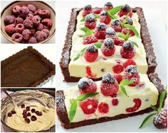 Chocolate and Raspberry Cheesecake NO BAKE