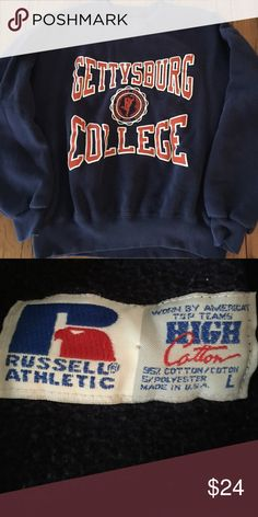 Gettysburg College Russell Athletic sweatshirt L In great condition and from a non smoking house russell athletic  Tops Sweatshirts & Hoodies