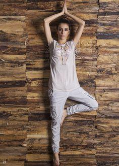 Maglia donna in cotone con frange