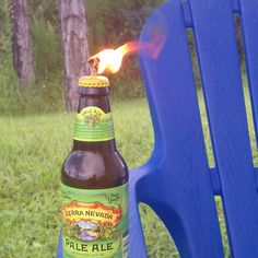 HOMEMADE TIKI TORCHES - From ANY beer/soda bottle, lamp/citronella oil & mop strings! Why didn't I think of this before?!