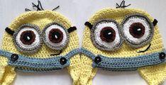 Handmade minion hat - another - Ruby & Custard Minion Crochet, Crochet Baby Hats, Minion Baby, Womens Scarves, Crochet Earrings, Winter Hats, Handmade, Sports Hats, Custard