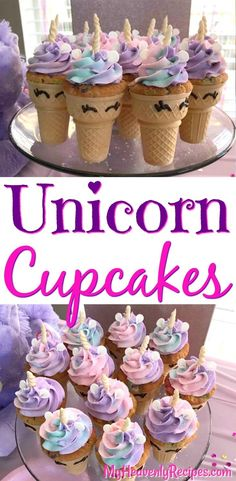 Anything unicorn is all the rage right now! Whether you are looking to brighten someone's day, celebrating a special person in your life or just want to have some fun in the kitchen, these Unicorn Cupcakes are sure to be the highlight of your day! #cupcakes #birthday #unicorn #recipe #food Cupcake Ideas Birthday, Unicorn Birthday Cakes, Birthday Recipes, Diy Unicorn Cake, Unicorn Cupcakes Cake, Diy Unicorn Party, Birthday Fun, Party Food Recipes, Ice Cream Cupcake Cones
