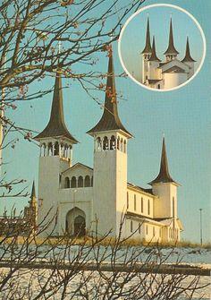 Hateigskirkja in Reykjavik - Iceland - Carte postale kitsch - Collection personnelle nikedenice (164)