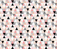 Mini // Coral Sketch Triangles fabric by tycdesignco on Spoonflower - custom fabric Animal Print Wallpaper, Wallpaper Iphone Cute, Cute Wallpapers, Patterned Wall Tiles, Patterned Sheets, Triangle Background, Background Patterns, Pattern Wallpaper, Custom Fabric