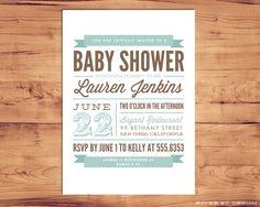 DIY Printable Baby Shower Invitation by RiverStDesign on Etsy