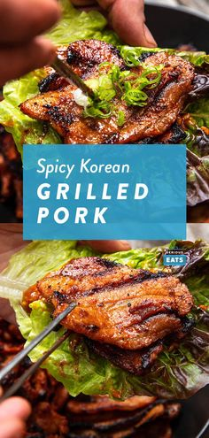 Dwaeji Bulgogi (Korean-Style Spicy Grilled Pork) - List of the best food recipes Grilling Recipes, Pork Recipes, Asian Recipes, Cooking Recipes, Healthy Recipes, Grilling Tips, Game Recipes, Barbecue Recipes, Grilled Pork Steaks