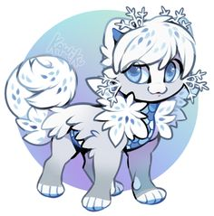 Snowflake Nekoi Auction (Closed) by Kawiku