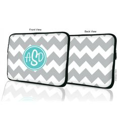 Classic Chevron #Monogram MacBook #Laptop #Sleeve | ** Made of high quality and soft neoprene (wetsuit material)...(http://www.bubblegumbasics.com/classic-chevron-monogram-laptop-sleeve.html)