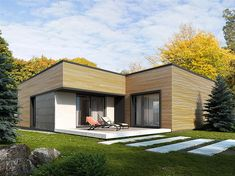 Projekt domu Nila 2 116,51 m2 - koszt budowy - EXTRADOM House Plans, Exterior, House Design, Cabin, Architecture, Building, Outdoor Decor, Home Decor, Manufactured Housing