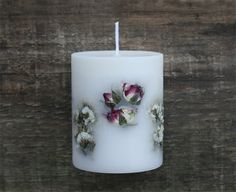 candle, flower candle, design candle, soy candle, pillar candle, handmade candle