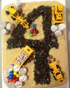 Construction cake with the age as the project.