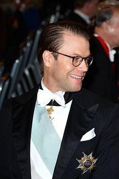 Prince Daniel of Sweden attends the Nobel Prize Banquet after the 2013 Nobel Prize Awards Ceremony at City Hall on December 10 2013 in Stockholm...