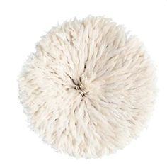 Made from feathers tightly sewn onto a rafia base. The finished product folds neatly into a cylindrical shape. Provides a fun pop of color and brings a layer of texture to any space.