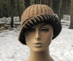 Hey, I found this really awesome Etsy listing at https://www.etsy.com/listing/120457835/hand-knit-2-color-brioche-rib-cloche-hat