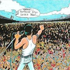 Queen at Live aid, Wembley, Queen Freddie Mercury, Freddie Mercury Quotes, Queen Songs, Queen Lyrics, Music Stuff, Music Songs, Music Quotes, Bryan May, Freedie Mercury