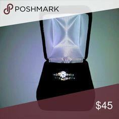 2.0ct   CZ BRIDAL SET IN STERLING SILVER New in Box 2 ring .2.0.ct CZ BRIDAL SET IN STERLING SILVERJewelryPalac25 Sterling Silver 2ct Cubic Zirconia Anniversary Wedding Band Engagement Ring Bridal Sets   ? Kay Jewelers Jewelry