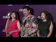 Kumar Sanu & Alka Yagnik at Colors Leadership Awards 2015.