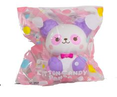 ibloom has finally made a panda squishy! These 6 new squishies are called Cotton Candy Panda Squishy. Each comes in packaging and each has its own unique scent. New Squishies, Charms Lol, Toy Organization, Cute Dogs And Puppies, Cotton Candy, Animal Crossing, Kids Toys, Panda, Hello Kitty