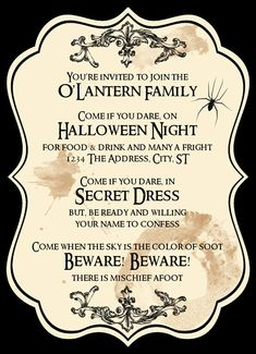 halloween invitations.