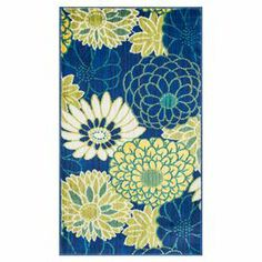 Loloi Rugs Isabelle Blue/Yellow Area Rug Rug Size: x Stoff Design, Polypropylene Rugs, Contemporary Area Rugs, Yellow Area Rugs, Pink Zebra, Indoor Rugs, Joss And Main, Throw Rugs, Floral Motif