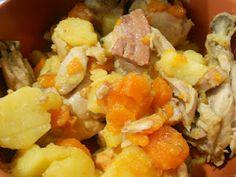 Frango com cenouras e bacon