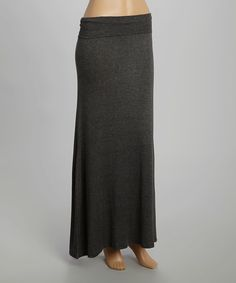 Look at this Charcoal Maxi Skirt on #zulily today!