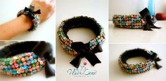 Knitted Bracelets KB 09 WINTER MOOD Set of 3 by Vladilenashandmade, $20.00
