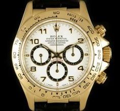Rolex Cosmograph Daytona Zenith Movement Gents 18k Yellow Gold White Dial 16518 Rolex Cosmograph Daytona, Rolex Daytona, Expensive Watches, Most Expensive, Used Rolex, Patek Philippe, Chronograph, Rolex Watches, Gadgets