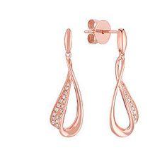 Round Diamond Earrings in 14k Rose Gold