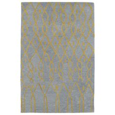 Hand-tufted Utopia Fringe Blue Wool Rug (9'6 x 13'6) | Overstock.com Shopping - The Best Deals on 7x9 - 10x14 Rugs