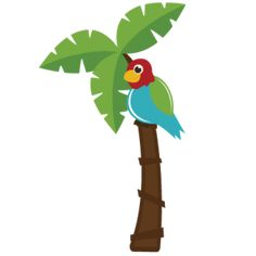 Parrot In Palm Tree SVG file for cutting