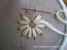 Floral Embroidery Patterns, Embroidery Stitches Tutorial, Simple Embroidery, Japanese Embroidery, Hand Embroidery Stitches, Silk Ribbon Embroidery, Hand Embroidery Designs, Embroidery Techniques, Embroidery Kits