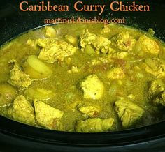 Martinis and Bikinis: Caribbean Curry Chicken in Slow Cooker