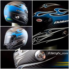 Fredrik Ekblom 2016 Bellhelmet a matt/flat surface on some parts and clearcoat on flamesdetails name etc. Cyan blue with reflective flames that shines when lights hits the helmet thanks for choosing me as your painter good luck this season! @fredrikekblom #cyanracing #cyan #bellhelmets #volvo #polestar #Glasurit #wtcc #fiawtcc #basfrefinish #jtape #3m #iwata #averydennison #clearcoat #flat #racing #reflective
