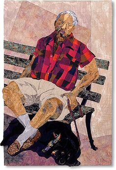 'Tuesday in the Park with George' Quilt by Alice Beasley