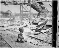 Terrified Baby who survived the Japanese bombing of Shanghai's South Station August 28 1937 [960x783]