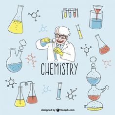 Desenhos Química vector Vetor grátis