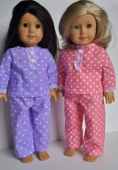 American Girl Clothes 18 inch doll Pajamas by littleashleighs, $10.50 by Heyjude01