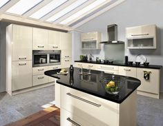 High Gloss Cappuccino kitchen from Cash and Carry Kitchens