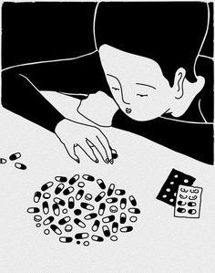 Illustration & Collaboration - Daehyun Kim - Moonassi drawing http://www.extramoeniart.it/mi-ritorna-in-mente/daehyun-kim-sentimenti-in-bianco-e-nero
