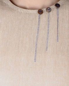 Embroidery Beige Kalamkari Printed Asymmetrical Hem Cotton Jute Tunic What You Want To Know About Di Neck Designs For Suits, Dress Neck Designs, Neckline Designs, Sewing Clothes, Diy Clothes, Clothes For Women, Fashion Details, Diy Fashion, Womens Fashion