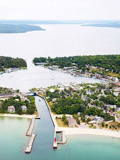 Charlevoix: An easygoing beach town with a triple lakefront (from Midwest Living Magazine)