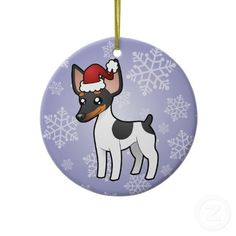 Rat Terrier Christmas Ornament