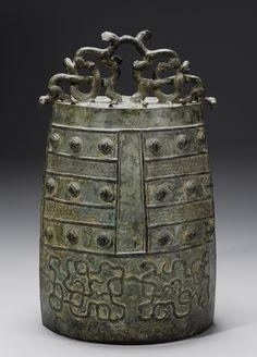 A RARE BRONZE BELL (BO)  EASTERN ZHOU DYNASTY