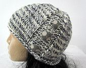 Knitted Winter hat, Woman's knit slouchy hat , Chunky, Beret, Winter, Ski,Oversized Hat, Wool Beret -  READY TO SHIP