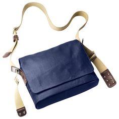 Scopri Tracolla Paddington -/ Tessuto, Blu & marrone di Brooks, Made In Design Italia