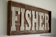 Name Sign Framed Custom Kids room Last name Wall Art Personalized Baby room Recycled Wood Large Letters 52x18x2 Huge Wall Hanging Rustic by TRUECONNECTION on Etsy https://www.etsy.com/listing/177547815/name-sign-framed-custom-kids-room-last