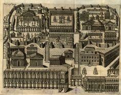 Ricostruzione degli edifici sul Campidoglio in epoca romana #roma #campidoglio #settecolli #illustrazione Plan Drawing, Big Ben, Rome, City Photo, Architecture, Antiques, Drawings, Building, Cities