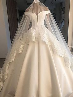 113 off shoulder floor length satin wedding dresses ballgowns 10 Pnina Wedding Dresses, Western Wedding Dresses, Classic Wedding Dress, White Wedding Dresses, Bridal Dresses, Gown Wedding, Western Weddings, Wedding White, Purple Wedding