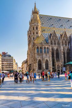 Walking Vienna in afternoon sunlight -SandraZ St Stephen's Cathedral Vienna, Barcelona Cathedral, Europe Holidays, World Cities, Vienna Austria, Traveling With Baby, London Travel, Beautiful Buildings, Jack Kerouac